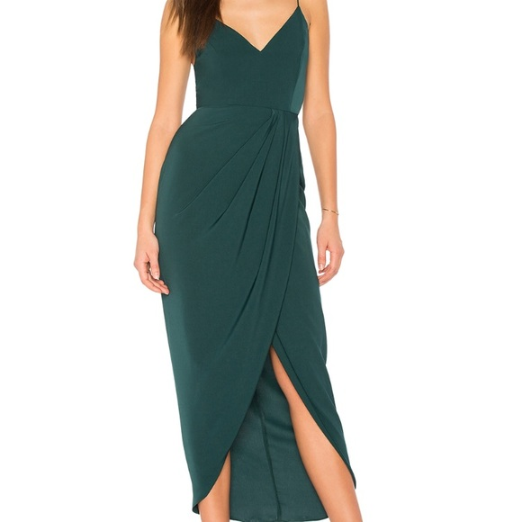 half price entire collection big collection Shona Joy Cocktail Draped Dress in Seaweed NWT